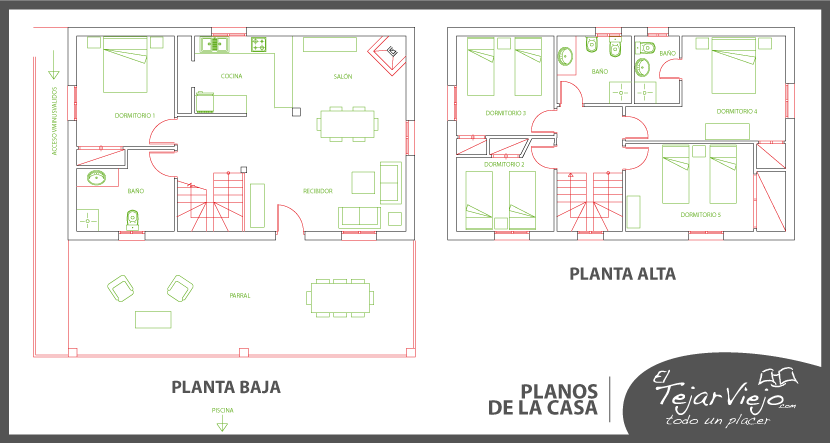 Planos de la casa casa rural centro de andaluc a for Planos de casas rurales
